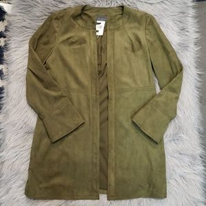 The Limited Olive Vegan Suede Jacket